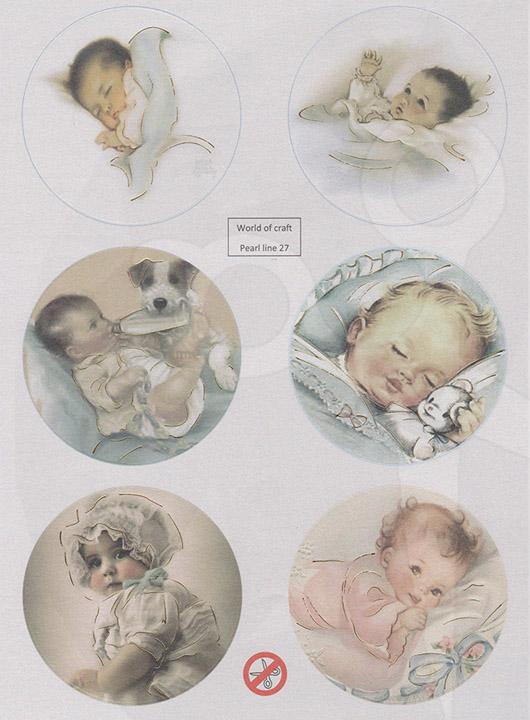 Stanssattu kuva-arkki Vauvaympyrät World of craft 27