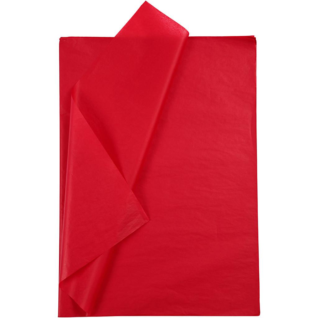 Silkkipaperi punainen 50x70 cm 5 arkk 14 g rullattu