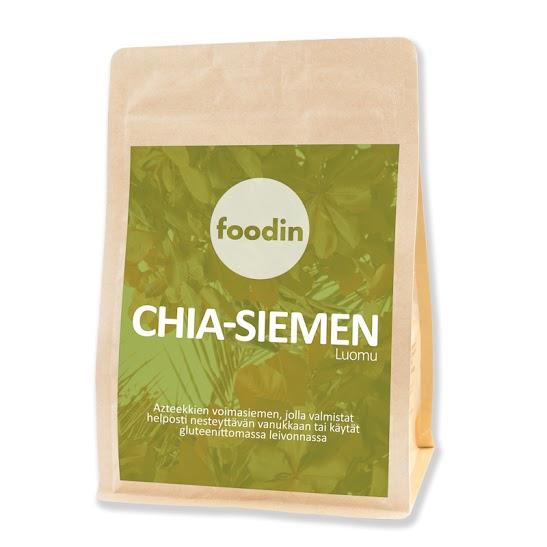 Chia-siemen, luomu, raaka 1kg