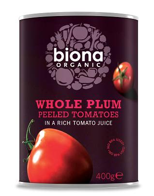 Biona Tomaatti kokonainen Luomu 400g