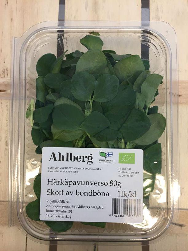 Ahlbergin Härkäpapuverso, luomu 80 g rasia