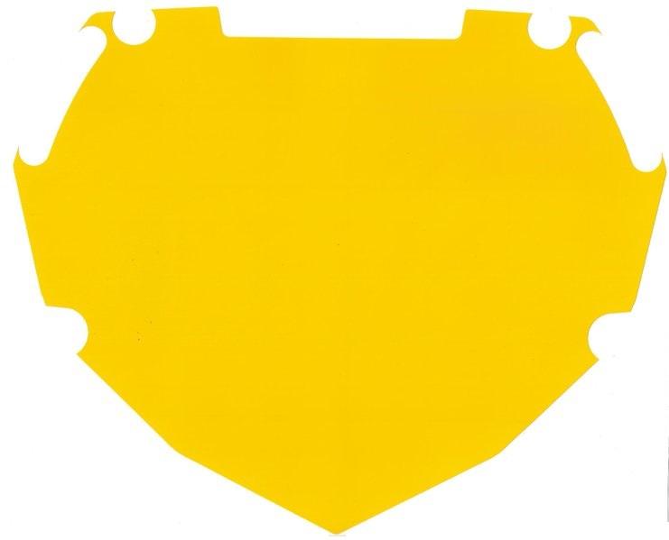 BOX numerokyltin taustatarra keltainen mini