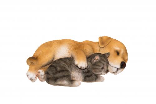 KOIRA ja KISSA nukkuvat harmaa/v.rusk. 602675
