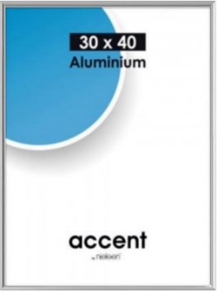 Accent kehys 30x40 cm puolikiiltävä hopea