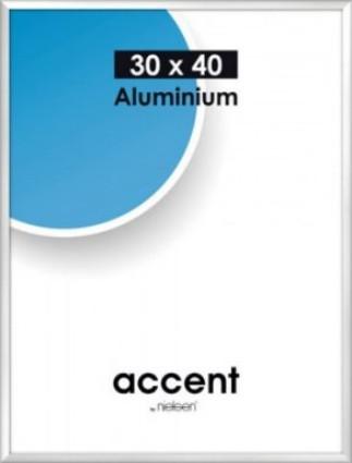 Accent kehys 30x40 cm matta hopea