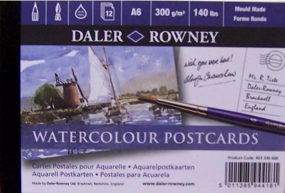 Akvarellilehtiö The Langton Postikortti