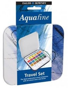 Aquafine Travel Set 24 akvarellivärit
