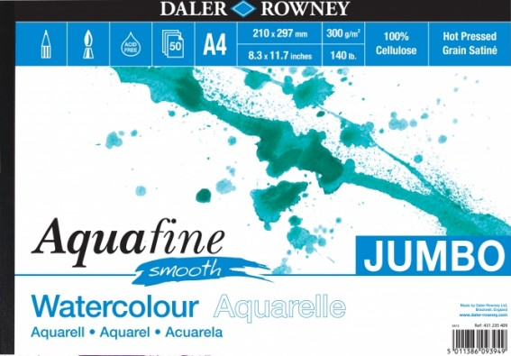 Akvarellilehtiö Aquafine A4 Jumbo smooth