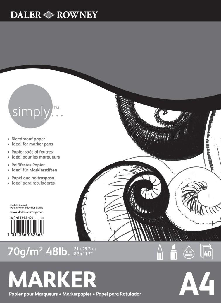 Simply marker lehtiö A4