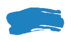 System3 akryyliväri 500ml, 100 Fluorescent Blue