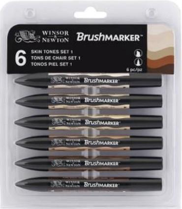 Brushmarker Skin tones set 6 kpl