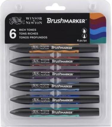 Brushmarker Rich tones set 6 kpl