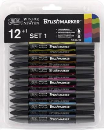 Brushmarker Vibrant tones set 1 13 kpl