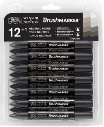 Brushmarker Neutral tones set 13 kpl