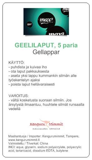 3) Entistä ohuemmat GEELILAPUT, 50 paria