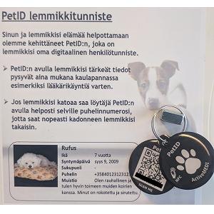 Pet-ID tunnistuslaatta