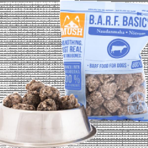 Naudan mahapullat 0,8kg MUSH BASIC