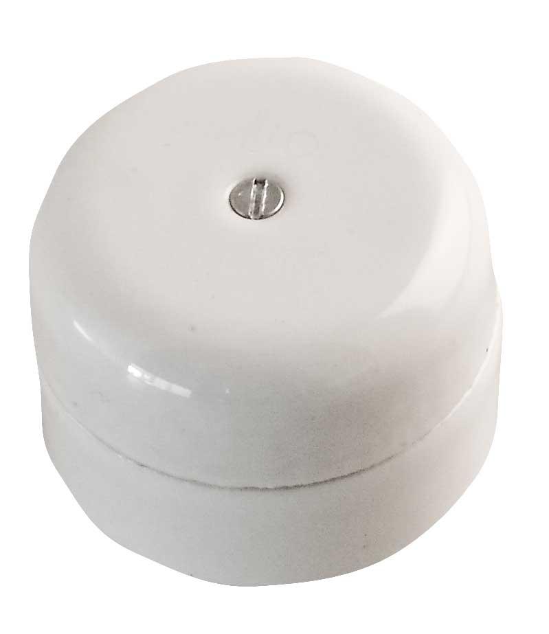 Jakorasia, pyöreä, valkoinen (5,5cm)