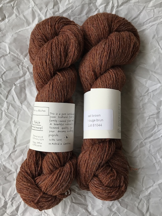 Le Petit Lambswool - Red Brown