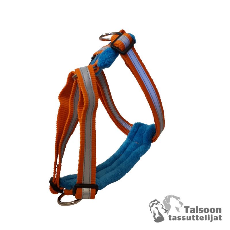oranssi-sininen