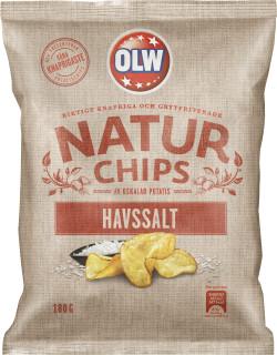 OLW NATUR CHIPS HAVSSALT 180G