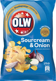 OLW CHIPS SOURCREAM & ONION 175G