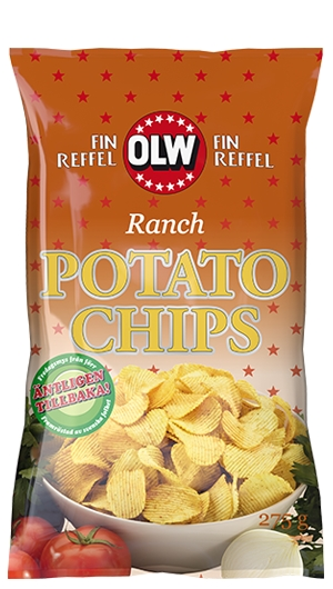OLW CHIPS RANCH POTATO CHIPS 175G