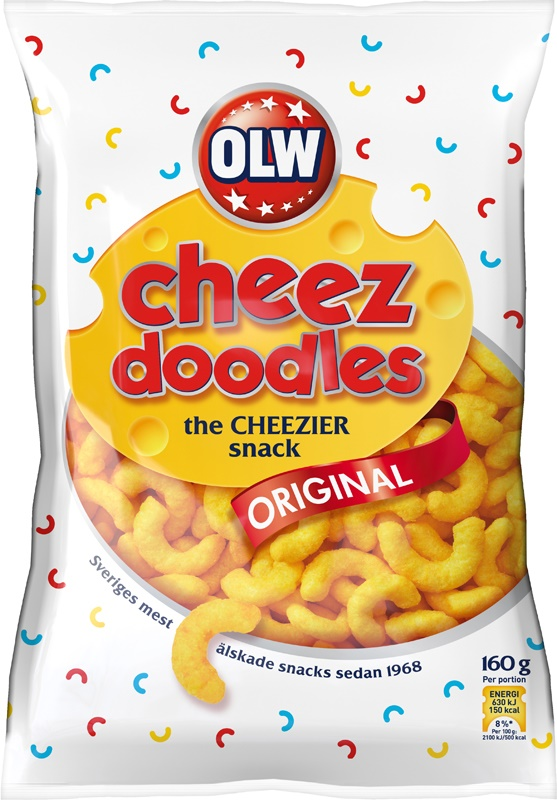 OLW CHEEZ DOODLES 160G
