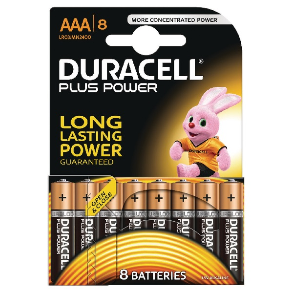 DURACELL PLUS POWER PARISTO AAA 8 KPL
