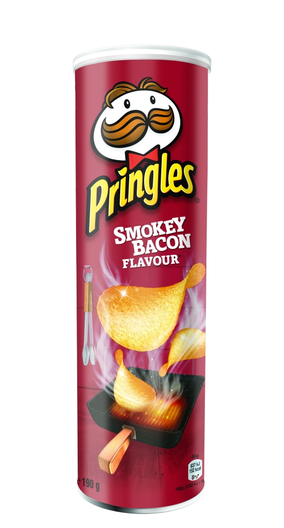 PRINGLES SMOKEY BACON 190G