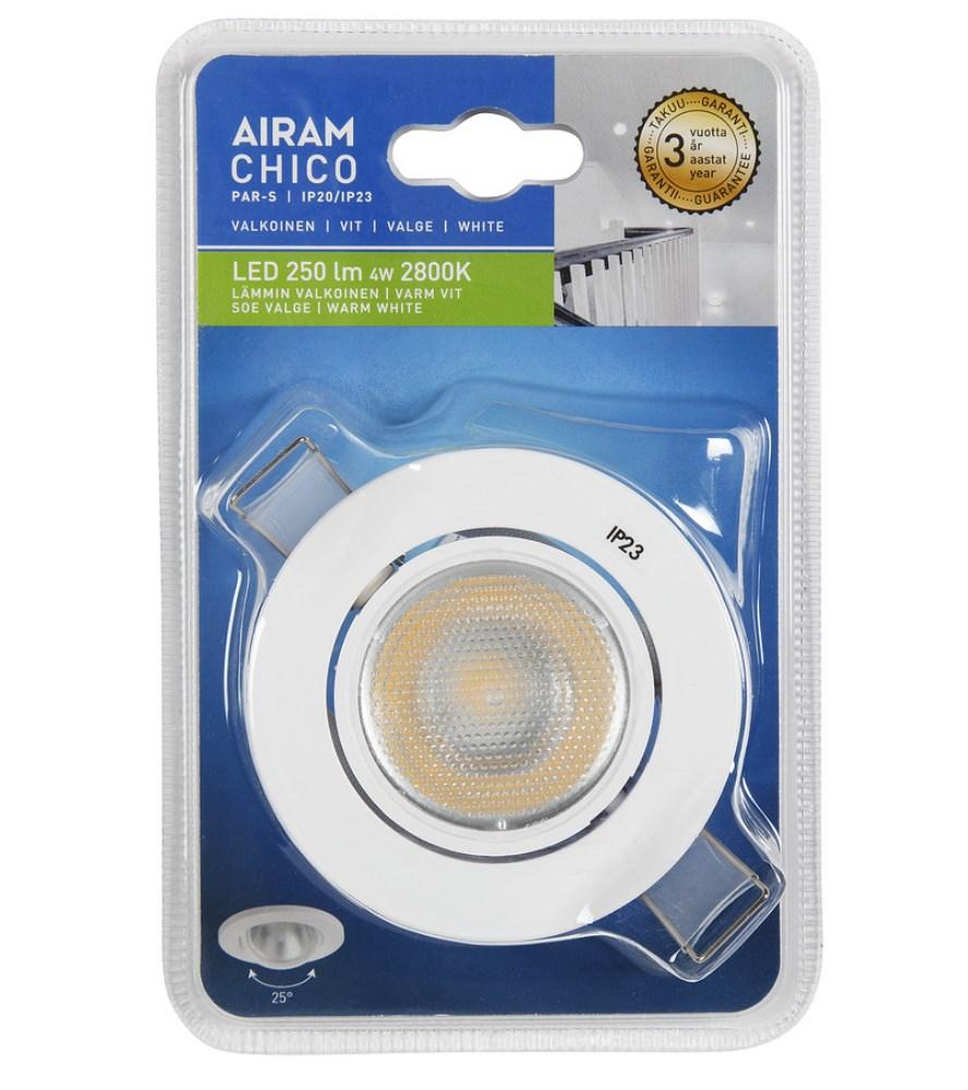 AIRAM CHICO S PAR ALASVALO IP20/IP23 4W/828 36D VA